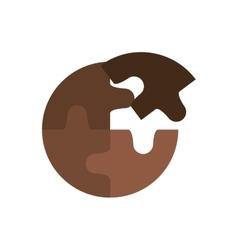 Puzzle pieces icon vector image