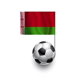 Soccer Balls or Footballs with flag of Belarus vector image