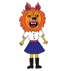 werewolf mask vector image vector image