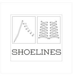 88 shoelines vector