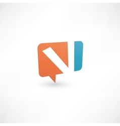 Abstract bubble icon based on letter v vector