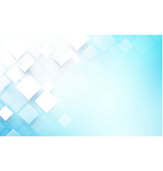 abstract rectangles white and blue background vector image
