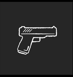 Action flick chalk white icon on black background vector
