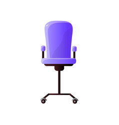 adjustable office chair with purple upholstery vector image