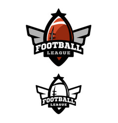 American football two variants vector