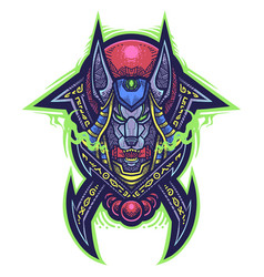 Anubis tribal esport mascot logo vector