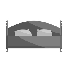 Bed icon black monochrome style vector image