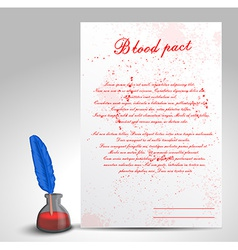 Blood pact vector image