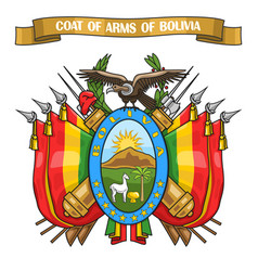 bolivian coat of arms vector image