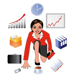 Business lady Black vector