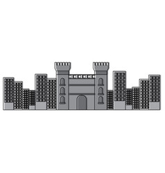Catalonia castle monument famous historic vector