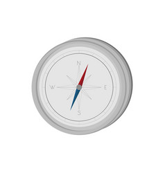 Compass orienteering device gray navigation vector
