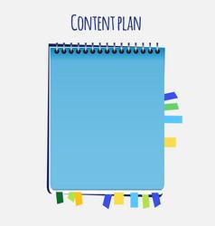 content plan flat vector image