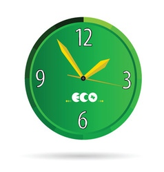 Eco green clock color vector