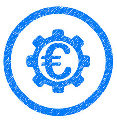 euro payment options rounded icon rubber stamp vector image