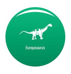 europasaurus icon green vector image