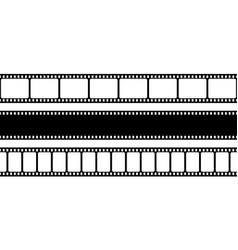 Film strips collection old retro cinema movie vector