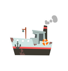 fishing ship vessel for industrial seafood vector image