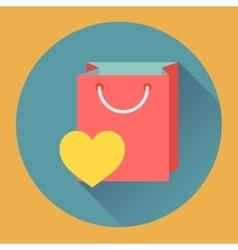 Flat-design shopping bag icon vector image