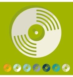 Flat design vinyl record vector