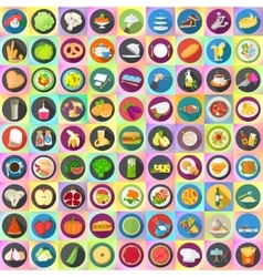 Flat icons set collection vector image