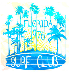 florida surf club watereffect vector image