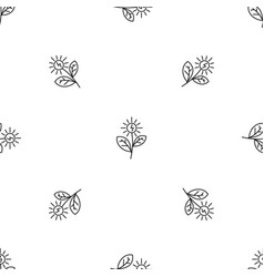 flower solar energy pattern seamless vector image