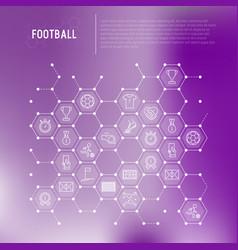 Football concept in honeycombs vector