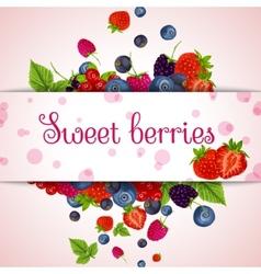 Fresh berries card vector image