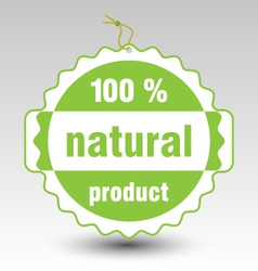 Green natural product stamp tag label vector