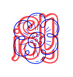hand draw flower icon in doodle style for your vector image