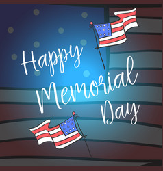 Happy memorial day style design vector