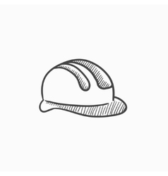 Hard hat sketch icon vector image