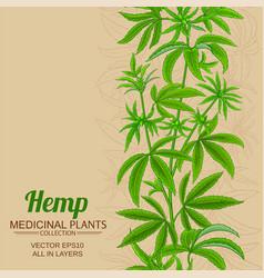 Hemp background vector