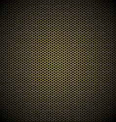 Hexagon gold background vector