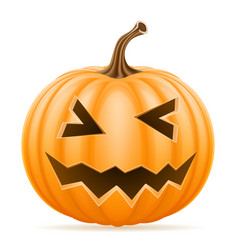 horrible pumpkin halloween stock vector image