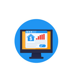 House prices growth real estate analytics vector