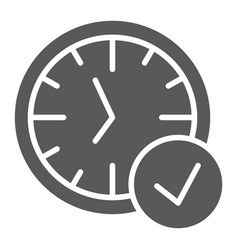 in-time glyph icon watch and countdown clock vector image