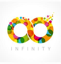 Infinity color bubbles logo vector