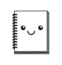 kawaii note book vector image