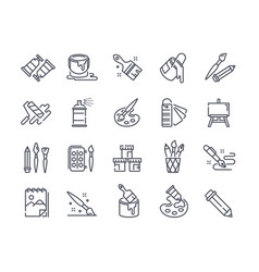 Large set creativity art and drawing icons vector