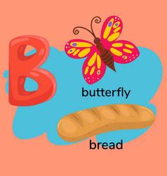 Letter b children s alphabet vector
