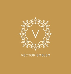 Logo design template in simple and trendy linear vector