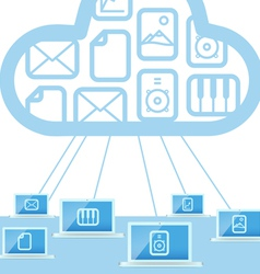 Modern cloud technology computer network vector image