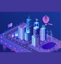 modern smart city isometric vector image
