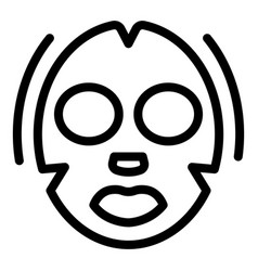 Moisturizing face mask icon outline style vector