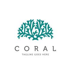 Neuron nerve cell or coral seaweed logo design vector