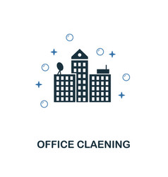 office cleaning icon creative two colors design vector image