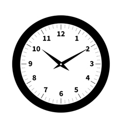 Old clock isolated vector