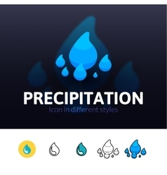 Precipitation icon in different style vector image